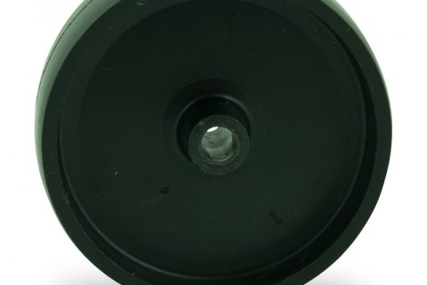 Wheel 125mm for light trolleys made from polypropylene,plain bearing.