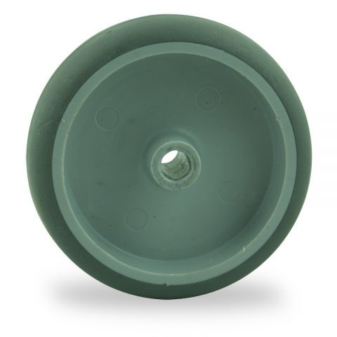 Wheel 150mm for light trolleys made from grey rubber,plain bearing.