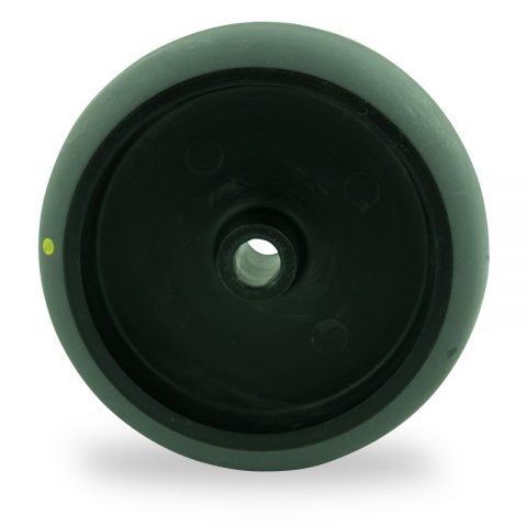Wheel 150mm for light trolleys made from electric conductive grey rubber,plain bearing.