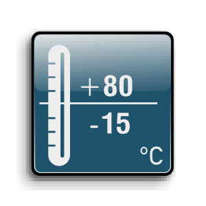 Working temperature from -15C up to +80C